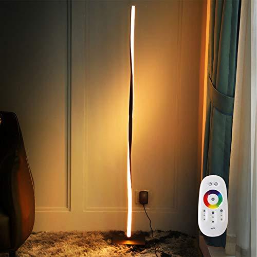 CDESY Lámpara de pie RGB Regulable Moderna LED Luces de pie Coloridas Estilo Minimalista Mando a Distancia para salón Dormitorio o Sala de Juegos Restaurante