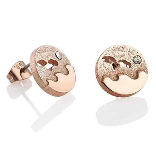 Newbridge Silverware Elegant Rose Gold Plated Ocean Earrings