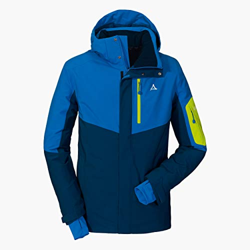 Schöffel Herren Ski Jacket Bozen3 wind- und wasserdichte Skijacke für Männer, atmungsaktive Winterjacke mit 2-Wege-Stretch und Schneefang