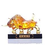 Decoración de estatuas de vaca y figuras de animales, modelo de réplica de vaca de Wall Street, arte...