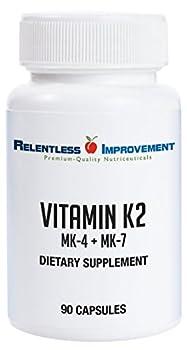 Relentless Improvement Vitamin K2 MK4 Plus MK7 Vegan Naturally-Derived