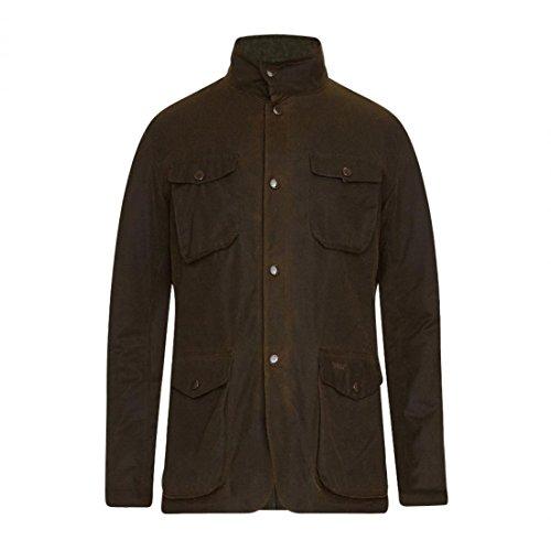 Barbour Ogston Wax-Jacket Wachsjacke Herren Olive grün - L