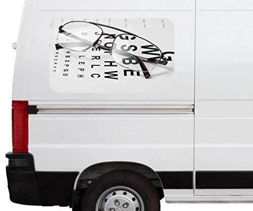 Autoaufkleber Arzt Auge Augenarzt Brille Test Beruf Car Wohnmobil Auto tuning Digital Druck Fenster Sticker LKW Bild Aufkleber 21B101, Größe 3D sticker:ca. 45cmx27cm