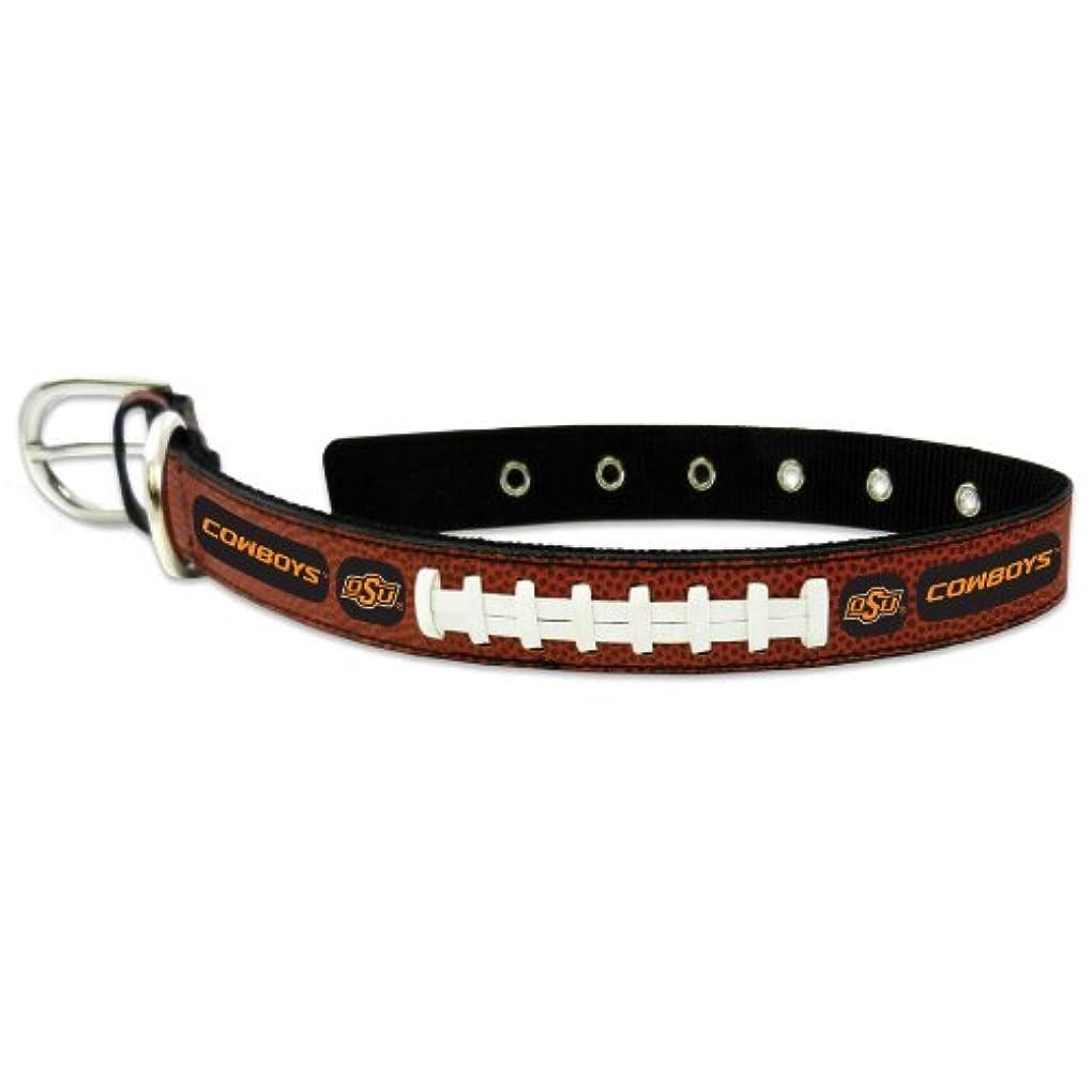 記者地上で定期的Oklahoma State Cowboys Classic Leather Large Football Collar