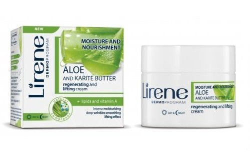 Lirene - Aloe und Sheabutter regenerierende Anti-Age Creme (50 ml)