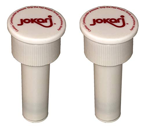 Jokari 05002 - Fizz Keeper Pump Cap - Pumpenkappe für 2 Liter Flaschen - Weiß 3.6cm x 8cm - Hält den Fizz In - 2 Stücke
