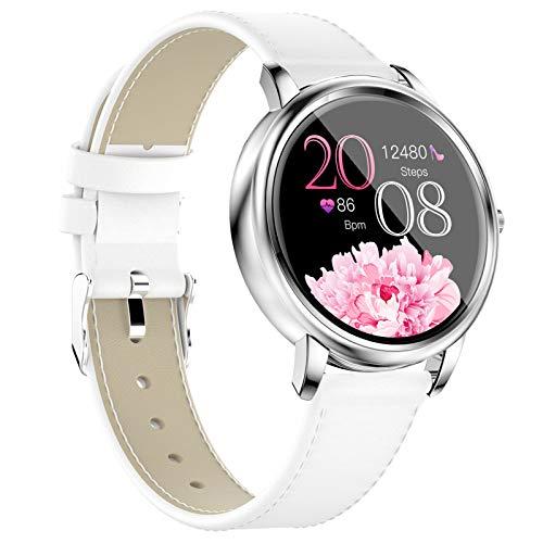 LTLJX Reloj Inteligente Mujer, Smartwatch Impermeable IP67 Pulsera Actividad Deportivo con Monitor de Sueño, Pulsómetro, Pantalla Táctil Completa Reloj Fitness para Android y iOS,Blanco