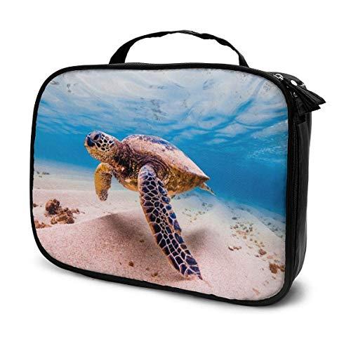 Multi Koi Fish in A Pond Travel Makeup Bag Organizer,Large Capacity Portable Removable Dividers Makeup Train Case Storage Multipurpose Bag Gift for Girls Women