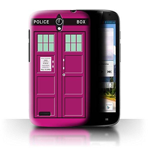 Hülle Für Huawei Ascend G610 Tardis Handyzelle Kunst Rosa Design Transparent Ultra Dünn Klar Hart Schutz Handyhülle Hülle