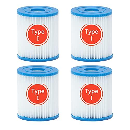 CYNEBR 4 Piezas Filtro para Piscina Bestway Tipo I, para
