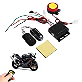 Anti-theft Alarm System for Motorcycle Bike, Universal Anti-theft Security Alarm with Double Remote Control 12V