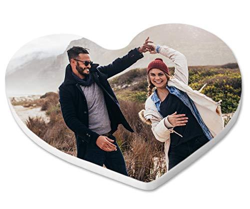 ORWONet Herzmagnet - Fotomagnet selbst gestalten | vollflächiger Druck | Magnete mit Motiv | Fotodeko | 6,5 x 6,0 cm| personalisierter Magnet | Fotogeschenk | Magnete Bedrucken als Liebesbotschaft