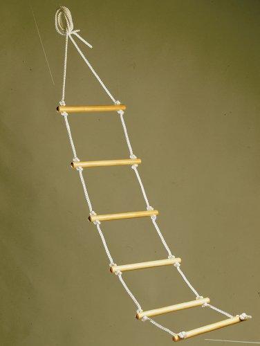 Bettleiter / Strickleiter - 1,60 m - 6 Rundhölzer -praktische Aufrichthilfe - 1 Stück