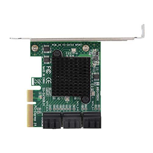 PCI-E-uitbreidingskaart, 6-poorts SATA3.0-uitbreidingskaart voor Windows XP / 2003 / Vista / win7 / win8 / win10 (32/64-bit) / MAC / NAS / Linux, adapteradapter voor harde schijf - Uitbreidingscontroller