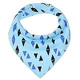 DNAEGH Baberos,Baberos Triangulares de algodón para bebés, para Bufandas de Saliva para bebés, Toalla de alimentación para bebés recién Nacidos Paño para eructos para niños pequeños.KD0069