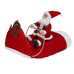 Firlar Costume de Père Noël pour Animal Domestique, Costume de Père Noël pour Chien, Costume de fête pour déguisement de Père Noël pour Chien ou Chat