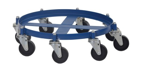 Vestil OCTO-55-CI Octo Drum Dolly with Cast Iron Casters, 2000 lbs Capacity