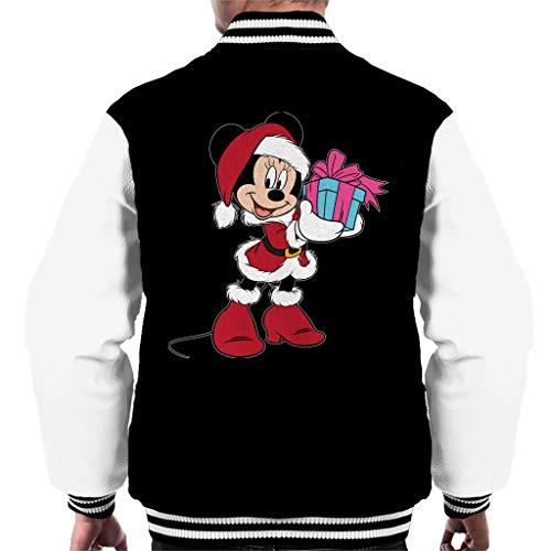 Disney Christmas Minnie Mouse Festive - Disfraz de nia negro/blanco XXL
