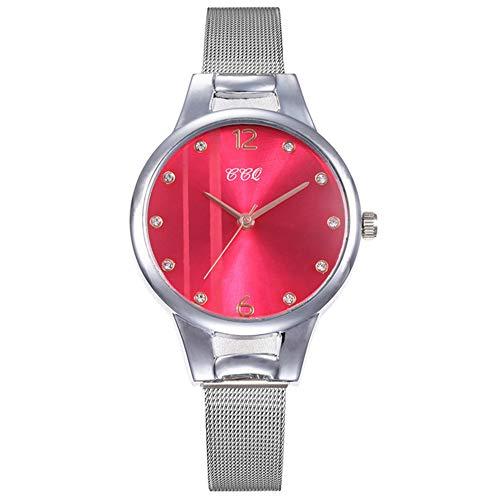 Armbanduhr Uhr Uhren Damenuhr Damen Green Dial Armband Quarzuhr Mode Metall Silber Gürtel Mode Kreative Kleideruhren für Damen Damen Geschenk