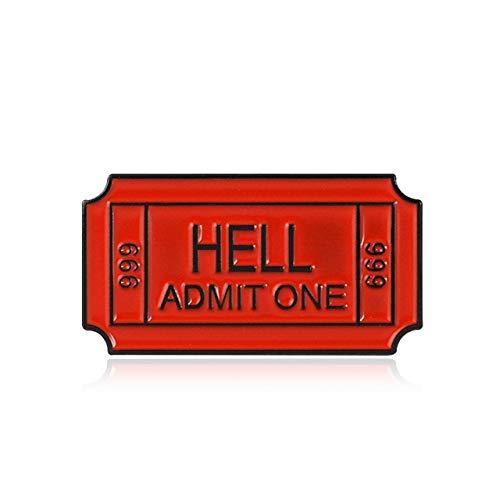 Punk Club Ticket Broche Broches De Letras Esmalte Pins-Style1