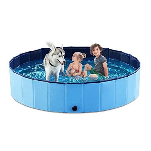 gzadq Pool Dog Paddling Dog Swimming Pool Plegable para Mascotas Piscina bañera bañera para Mascotas bañera Plegable para Gatos y Perros niños 120X30CM Rojo
