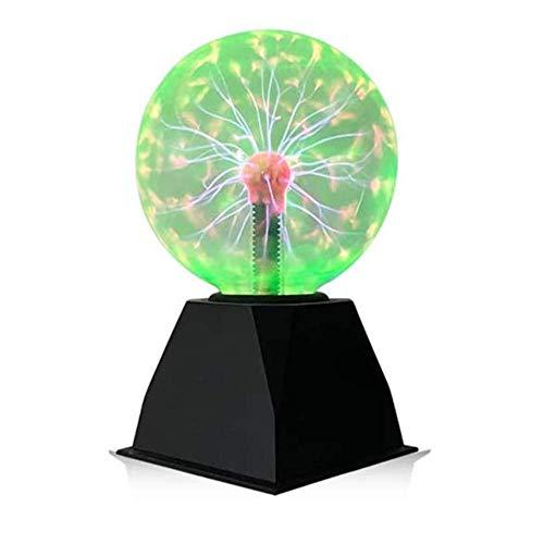 Goeco Luce a Sfera al Plasma, Palla al Plasma Magica 5 Pollici, Sfera Flash sensibile al Tocco Palla elettrostatica, Luce Verde