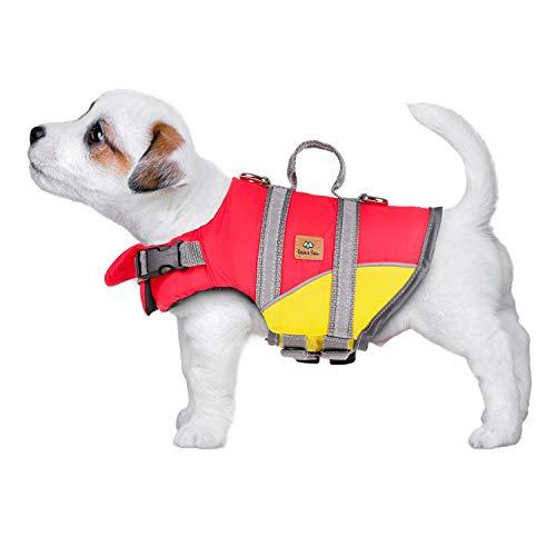 Bella & Balu Gilet de Sauvetage pour Chiens - Dog lifejacket réfléchissant pour Chien pour Une sécurité maximale dans et Autour de l'eau Lors de la baignade (XS)
