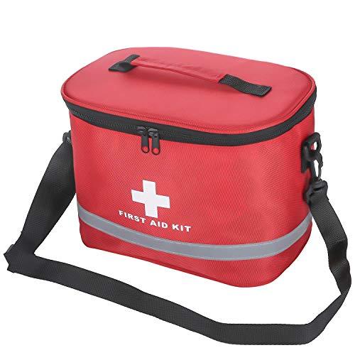 Erste Hilfe Set Tasche mit Schultergurte, Leer Erste-Hilfe-Koffer Notfalltasche Medizinisch Tasche Wasserdicht Tragbar Groß Erste Hilfe Kasten First Aid Medical Bag für Home Auto Outdoor Reisen