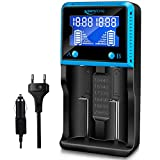 18650 Chargeur Batterie Universel, Keenstone Chargeur de Piles Intelligent avec Ecran LCD pour Piles Rechargeables 18650 Ni-MH Ni-CD AA AAA Li-ION LiFePO4 IMR 10440 14500 16340 26650 etc