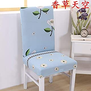 T-CYYT 2 Pieces Antifouling Home Hotel Chair Cover Stool Set Table Chair Cover Stretch Office Computer Chair Cover, Vanilla Sky