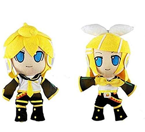 Hatsune Miku Plush Toy Cute Vocaloid Hatsune Miku Kagamine Rin Len Cute Soft Figure Cartoon Plush Toys Doll Baby Toy 30Cm 2Psc/Set