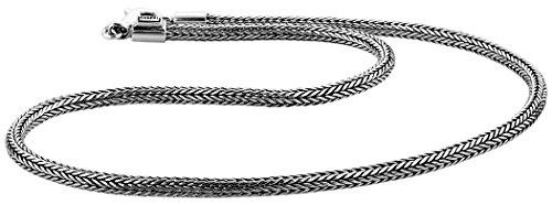Kuzzoi Massive 925 Sterling Silber Königskette Herren Halskette, Dicke 5mm, Länge 60 cm, mit Schmuckbox - 345051-060