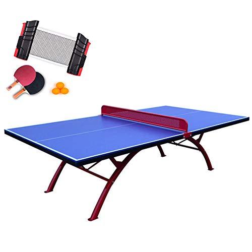 SHEHUIREN Ping-Pong-Tisch Mit Pingpong + Racket + Net-Rack Geeignet Für Schnellmontage Von Kindern Und Erwachsenen 155X140cm