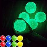GASF Sticky Wall Balls, BallsBolas de Objetivo pegajosas Fluorescentes,Bolas de Pared para aliviar el estrés,Juguete de descompresión para Adultos niños (4 Piezas)