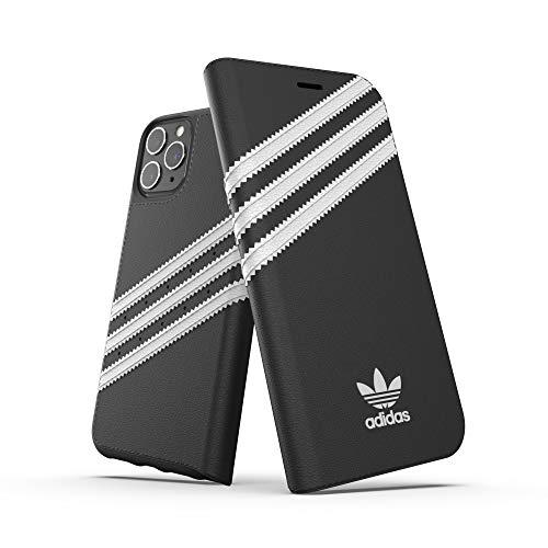 adidas Originals Kompatibel mit iPhone 11 Pro Hülle, schützende Folio PU Booklet Handyhülle - Schwarz Weiß