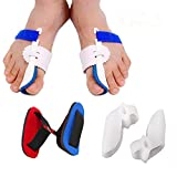 Bunion Corrector Adjustable Bunion Splint Night Time Soft Gel for Bunion Relief, Bunion Corrector and Bunion Relief Protector Brace Kit for Big Toes, Bunion Pads, Toe Straightener, Toe Separators