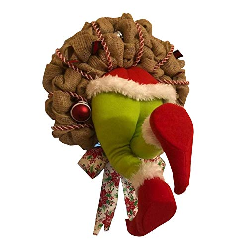 Seasonsun - Corona de Navidad con diseo de saca