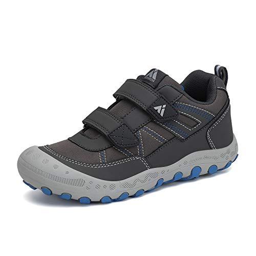 Mishansha Zapatillas Senderismo Antideslizante Niña Niño Zapatos Montaña Transpirable Sneakers Gris 32 EU
