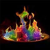BKWJ Feuerfarbwechselpakete für Feuerstelle, Erstellen Sie Bunte und lebendige Flammen für Holzfeuer, magische Regenbogenflammen für Halloween im Freien,30g