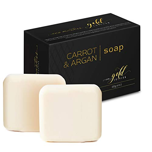 Gold Edition - Carrot & Argan Soap Pack – 2x (200g) - Natural Skin...