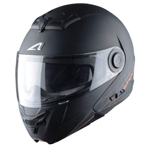 Astone Helmets - RT800 SOLID - Casque de moto modulable - Casque de moto 2 en 1 - Casque polyvalent route et ville - Casque en polycarbonate - exclusive matt black XL