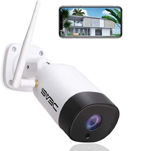 SV3C 5MP Telecamera wi-fi Esterno senza fili, Videocamera Sorveglianza Esterno wifi con IP67 Impermeabile, Visione Notturna, Motion Detect, Audio a 2 Vie, Vista a Distanza Tramite Phone PC