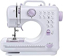 Mini Electric Sewing Machine, Portable Household Sewing Machine, Multifunction Crafting Mending Machine with Built-in 12 Floral Stitches, Foot Pedal, Hand-held Tailor Machine for Beginners