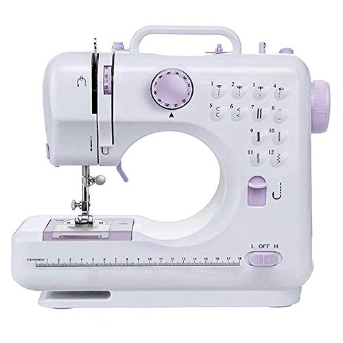 Mini Electric Sewing Machine, Portable Household Sewing Machine, Multifunction Crafting Mending Machine with Built-in 12 Floral Stitches, Foot Pedal, Hand-held Tailor Machine for Beginners -  Inkec, Inkec