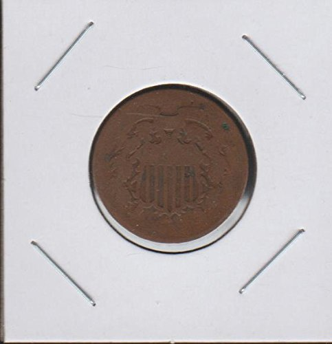 1864 Shield (1864-1873) Two-Cent About Good