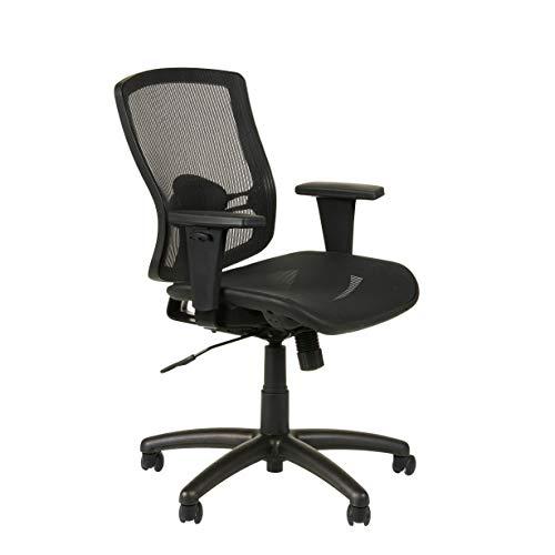 Alera ET4218 Etros Series Mesh Mid-Back Synchro Tilt Chair, Mesh Back/Seat, Black