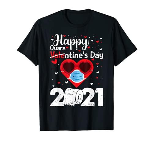Felice San Valentino 2021 Quarantena Corrispondenza Coppia Pigiama Maglietta
