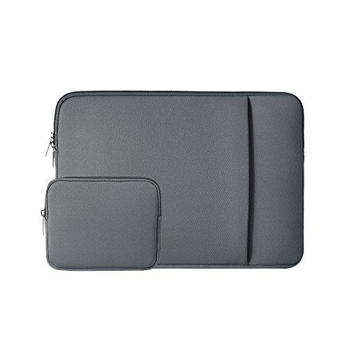 RAINYEAR 13-13,3 Pollici Custodia Protettiva per Laptop PC Computer Portatili Sleeve Tasca Caso con Piccola Borsa Aggiuntiva,Compatibile con 13,3  MacBook Air Pro Chromebook Tablet Notebook,Grigio