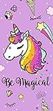 Secaneta-Toalla 75X150CM Terciopelo Estampada Magical Malva, Color, 75 x 150 cm...