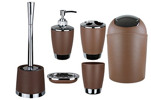 GMMH - Juego de 6accesorios para el cuarto de baño, dispensador de jabón, escobilla para el inodoro